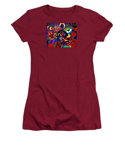 Tears Of Blood Women's T-Shirt (Junior Cut) by Marina Petro