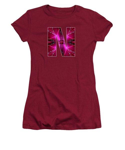 Nnn Nn N  Alpha Art On Shirts Alphabets Initials   Shirts Jersey T-shirts V-neck By Navinjoshi Women's T-Shirt (Junior Cut) by Navin Joshi