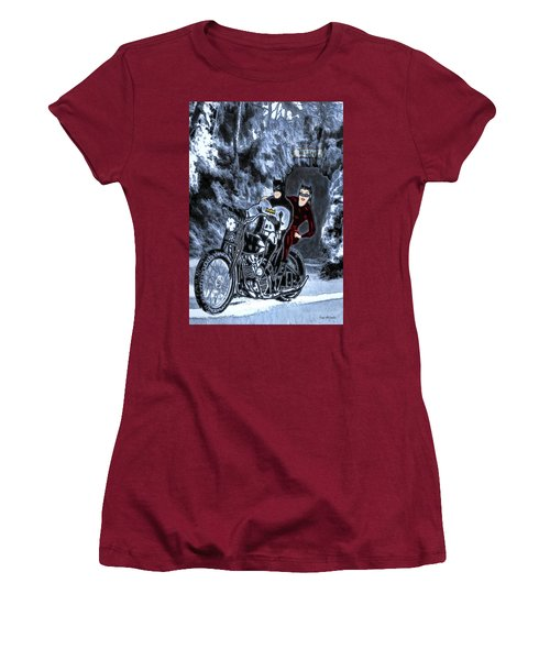 Women's T-Shirt (Athletic Fit) featuring the drawing No Cat Woman..this Is Not A Date by Pennie McCracken