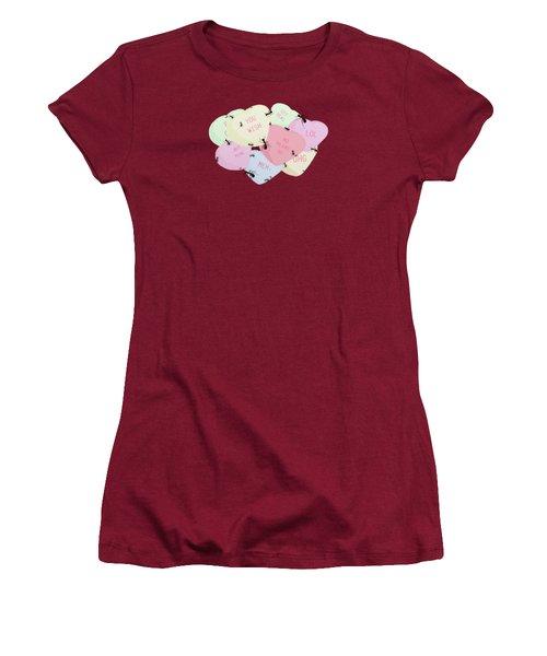 No Love Here Women's T-Shirt (Junior Cut) by Priscilla Wolfe