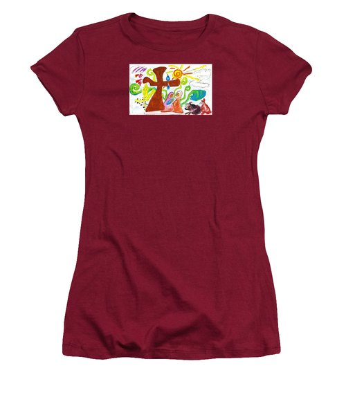 Oh Holy Night Women's T-Shirt (Junior Cut) by Martin Cline