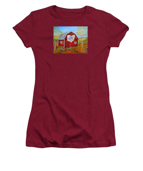 Ohio Bicentennial Barns 2 Women's T-Shirt (Athletic Fit)