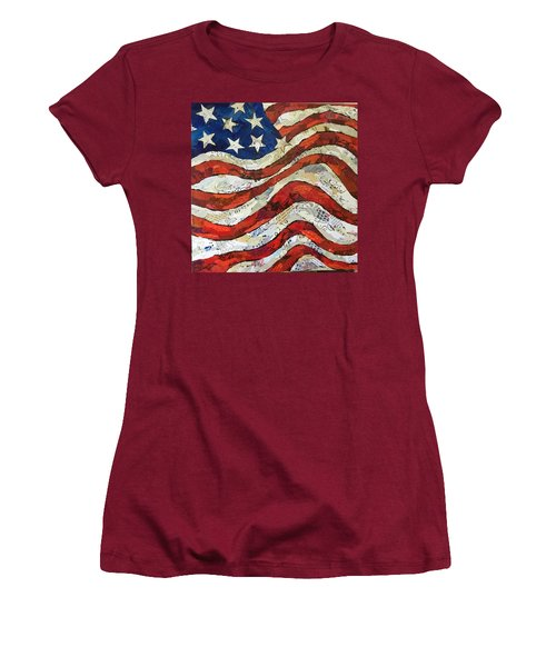 Old Glory II Women's T-Shirt (Athletic Fit)