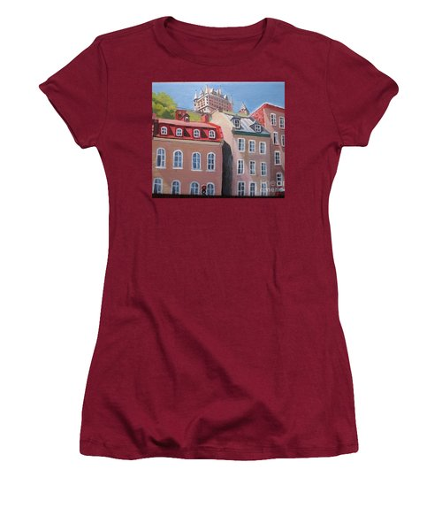 Old Quebec City Women's T-Shirt (Athletic Fit)