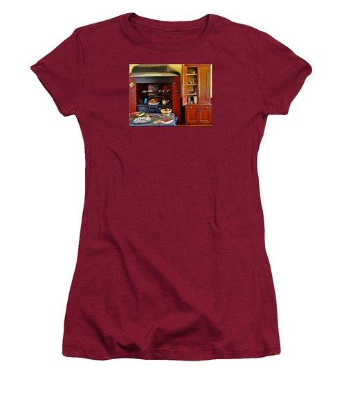 Old Time Kitchen Women's T-Shirt (Junior Cut) by Mikki Cucuzzo