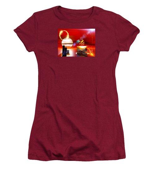One Step Beyound Women's T-Shirt (Junior Cut) by Jacqueline Lloyd