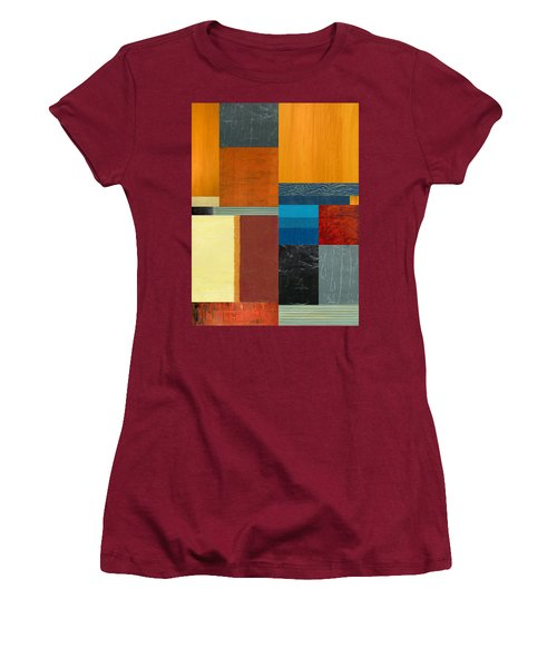 Women's T-Shirt (Junior Cut) featuring the painting Orange Study With Compliments 3.0 by Michelle Calkins