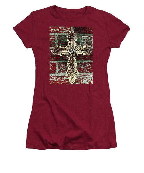 Ornate Cross 1 Women's T-Shirt (Athletic Fit)