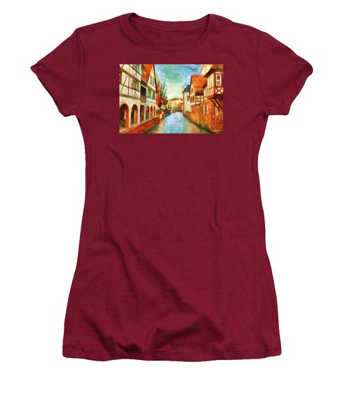 Women's T-Shirt (Athletic Fit) featuring the digital art Ortschaft by Greg Collins