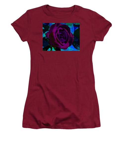 Painted Rose Women's T-Shirt (Junior Cut) by Samantha Thome
