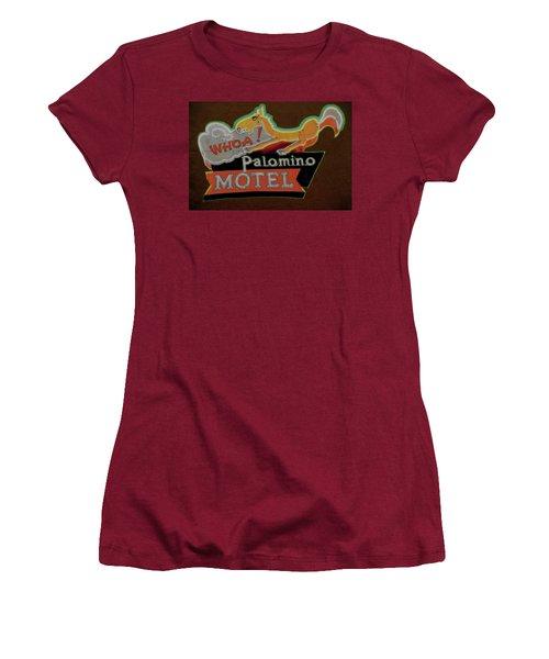 Women's T-Shirt (Junior Cut) featuring the photograph Palomino Motel by Jeff Burgess