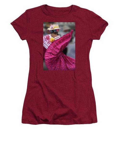 Panamanian Dancer 2 Women's T-Shirt (Athletic Fit)