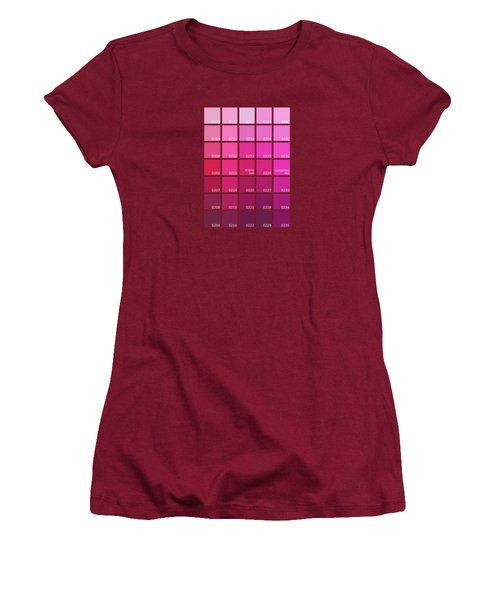 Pantone Shades Of Pink Women's T-Shirt (Athletic Fit)