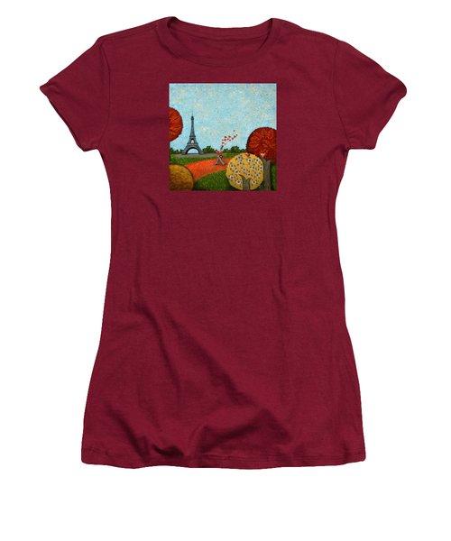 Paris Je T Aime Women's T-Shirt (Athletic Fit)