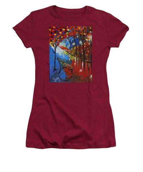 Park Bench Women's T-Shirt (Junior Cut) by Gary Smith