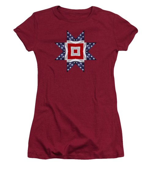 Patriotic Star 1 - Transparent Background Women's T-Shirt (Athletic Fit)