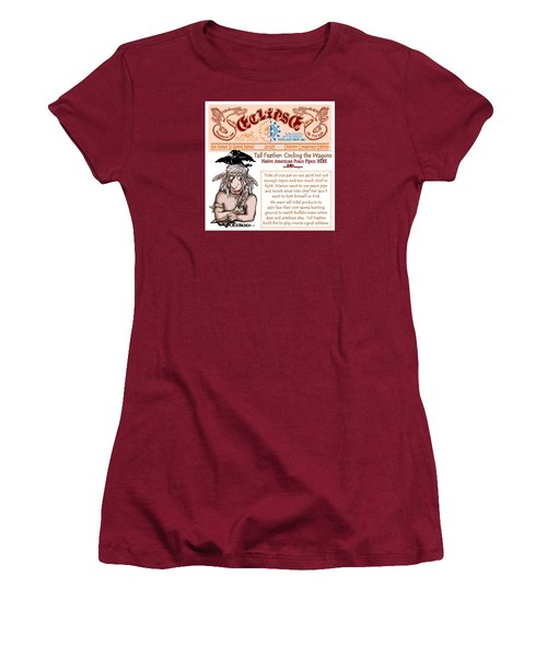 Women's T-Shirt (Junior Cut) featuring the drawing Real Fake News Circling The Wagons 2 by Dawn Sperry