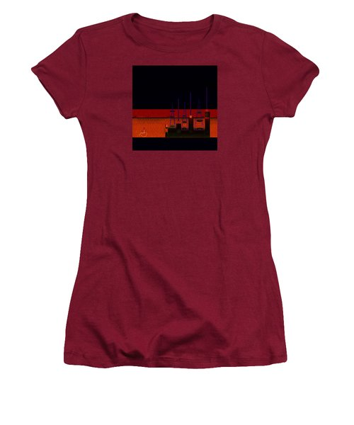 Women's T-Shirt (Junior Cut) featuring the painting Penman Original-271-getting Past The Obstacles by Andrew Penman