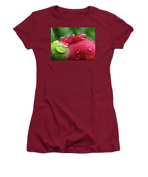 Peony Drops 2 Women's T-Shirt (Athletic Fit)