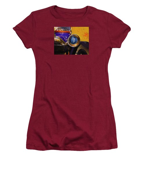 Women's T-Shirt (Junior Cut) featuring the photograph Peugeot Cabriolet 1913 by Walter Fahmy