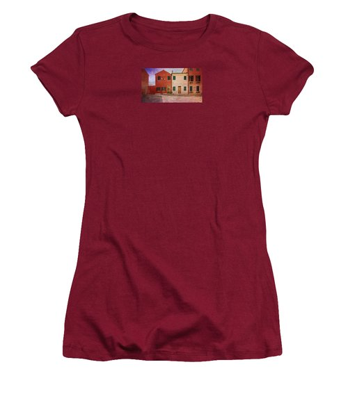Women's T-Shirt (Junior Cut) featuring the photograph Pink Houses by Anne Kotan