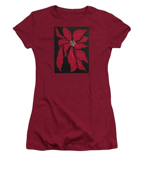 Poinsettia - The Season Women's T-Shirt (Athletic Fit)