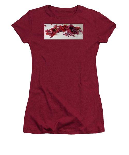 Poppies Petals Women's T-Shirt (Athletic Fit)