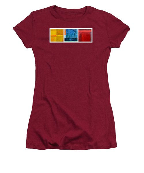 Women's T-Shirt (Athletic Fit) featuring the painting Primary - Artprize 2017 by Michelle Calkins