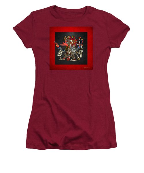 Quetzalcoatl - Codex Borgia Women's T-Shirt (Junior Cut) by Serge Averbukh