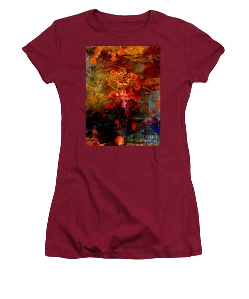 Radiant Red Women's T-Shirt (Junior Cut) by Nancy Kane Chapman