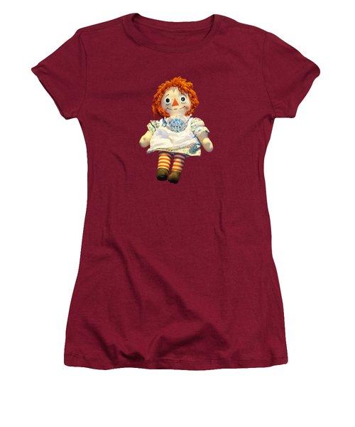 Raggedy Ann Doll Women's T-Shirt (Junior Cut) by Pamela Walton