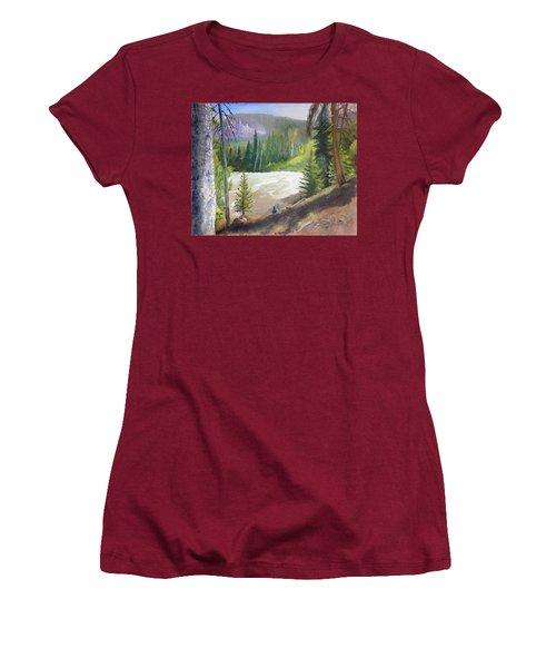 Raging River Women's T-Shirt (Junior Cut) by Sherril Porter