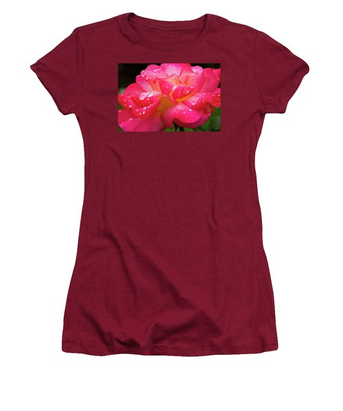Rainbow Sorbet Raindrops Women's T-Shirt (Junior Cut)