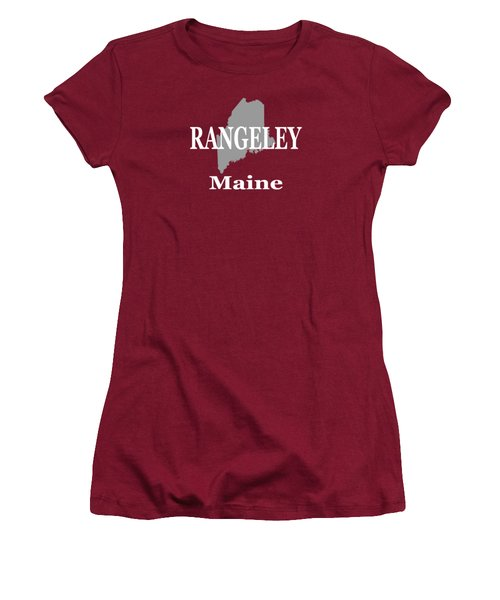 Rangeley Maine State City And Town Pride  Women's T-Shirt (Junior Cut) by Keith Webber Jr