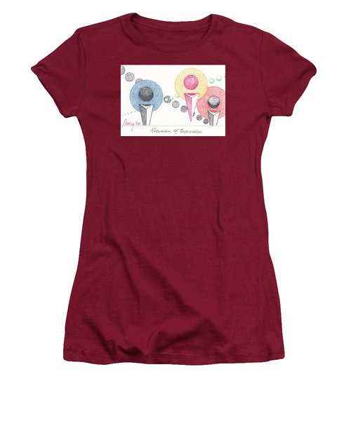 Women's T-Shirt (Junior Cut) featuring the drawing Recession Of Depression 1 by Rod Ismay