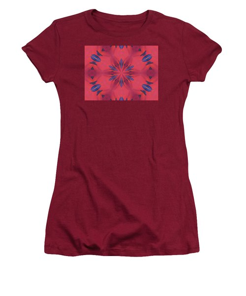 Women's T-Shirt (Athletic Fit) featuring the mixed media Red And Blue by Elizabeth Lock