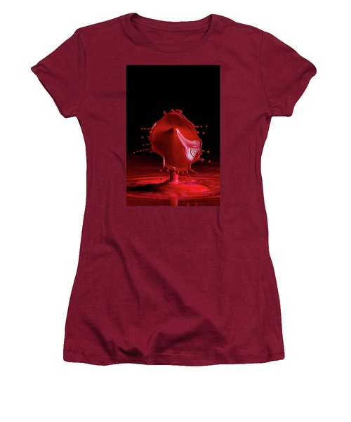Red Drop Women's T-Shirt (Athletic Fit)