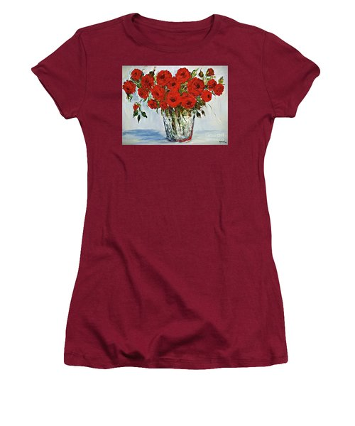 Red Roses Memories Women's T-Shirt (Athletic Fit)