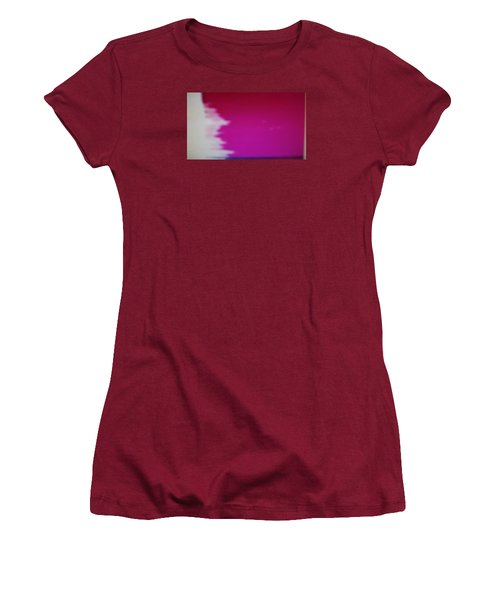 Women's T-Shirt (Junior Cut) featuring the painting Red Sky by Don Koester
