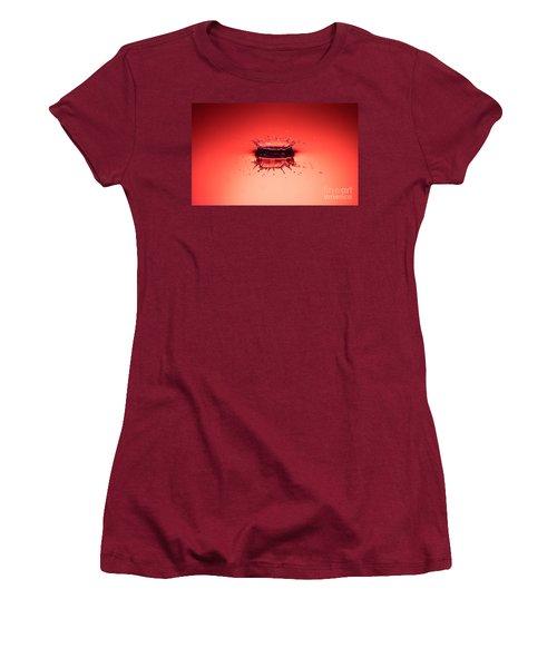 Red Splashdown Women's T-Shirt (Athletic Fit)