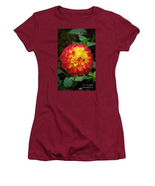 Red Tipped Petals Women's T-Shirt (Athletic Fit)