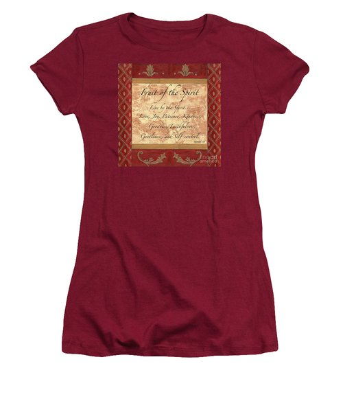 Red Traditional Fruit Of The Spirit Women's T-Shirt (Athletic Fit)
