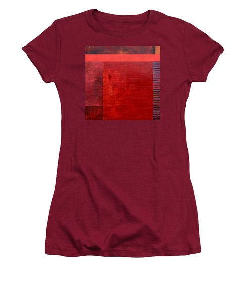 Red With Orange Women's T-Shirt (Athletic Fit)