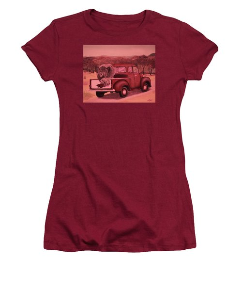 Ridin' With Razorbacks 3 Women's T-Shirt (Athletic Fit)
