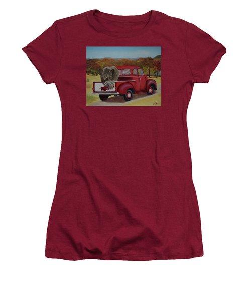 Ridin' With Razorbacks Women's T-Shirt (Junior Cut) by Belinda Nagy