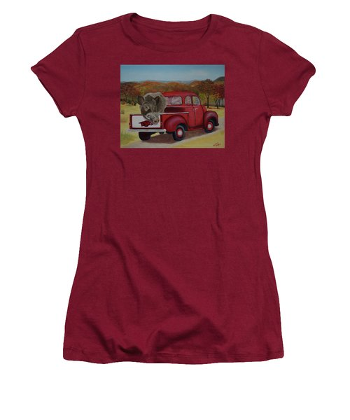 Ridin' With Razorbacks Women's T-Shirt (Athletic Fit)