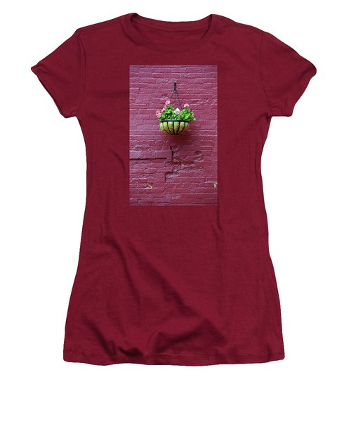 Women's T-Shirt (Junior Cut) featuring the photograph Rochester, New York - Purple Wall by Frank Romeo