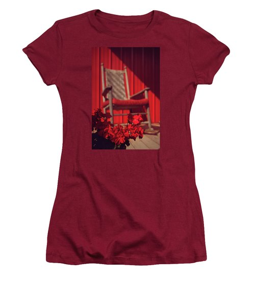Women's T-Shirt (Junior Cut) featuring the photograph Rockin' Red by Jessica Brawley