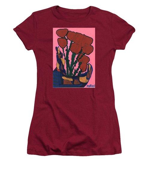 Rosebed Women's T-Shirt (Junior Cut) by Darrell Black