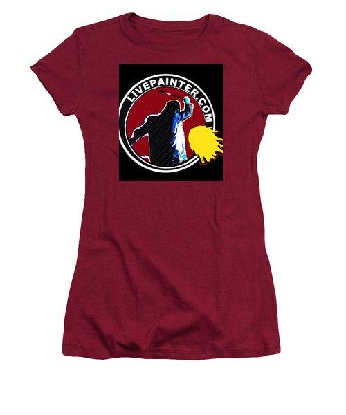 second Official Live Painter Logo  Women's T-Shirt (Athletic Fit)